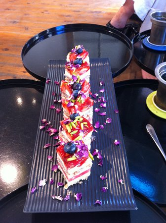 Travelicious Tours: The stunning signature watermelon torte at Black Star Pastry