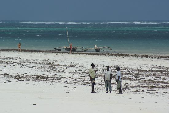 Galu Beach, Kenia: coast with beach boys