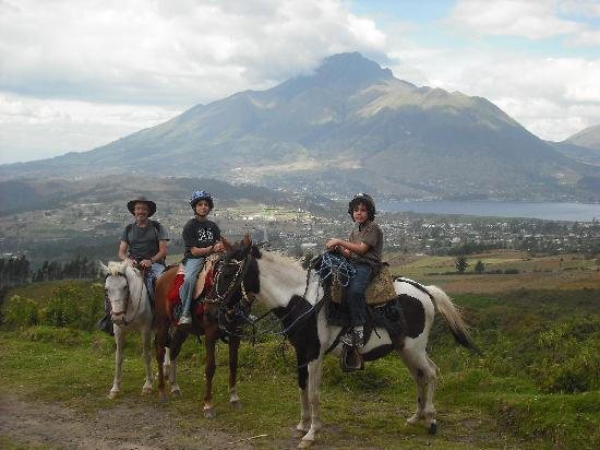 Hosteria Rose Cottage: Horseriding trips are a great way to see the beautiful countryside round Rose Cottage