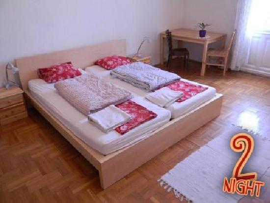 2Night Hostel: one of the king-size double-bed rooms