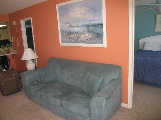 Nautilus Condominium: couch and some of the master