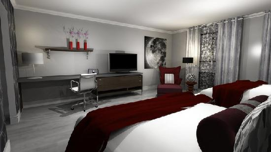 Hotel Deco XV: This ever modern style instills the guest rooms, Lobby and public areas, and restaurant with vib