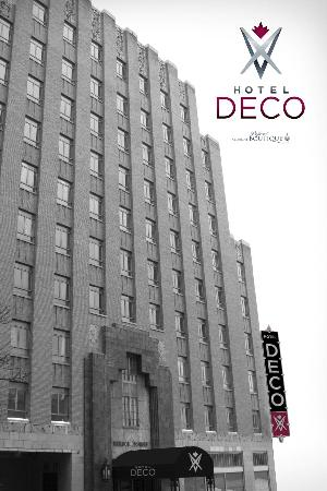 هوتل ديكو إكس في: Art Deco, a design movement originated at the 1925 Paris Exposition International and reflected