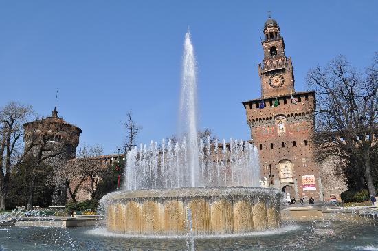 Milan, Italie : Eingang zum Park Sempione