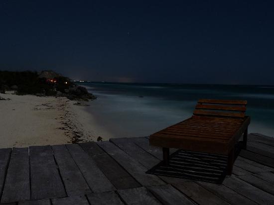 La Posada del Sol: Terraza de noche