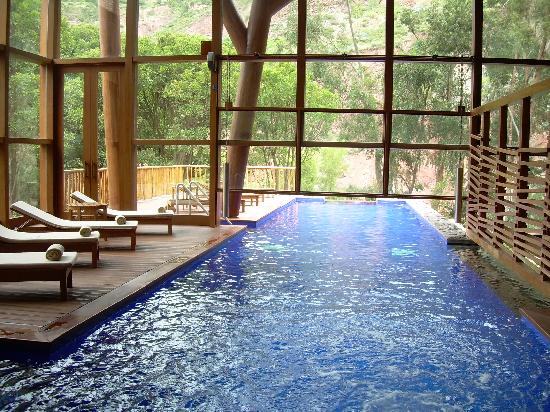 The indoor/outdoor pool - Picture of Tambo del Inka, A Luxury ...