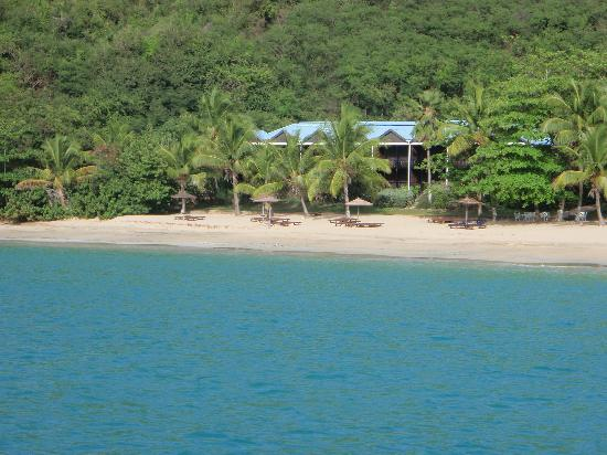 Tamarind Beach Hotel & Yacht Club: View of hotel from a boat at sea