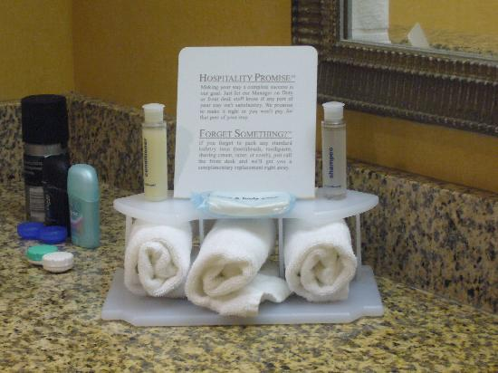 Holiday Inn Express Williamsburg: Toiletries
