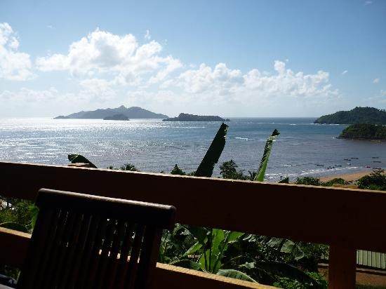 Coco Lodge : view from the terrace/restaurant