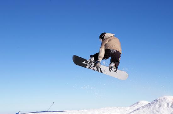 Kahotea House B&B and Home stay: Snowboarding on Mt Ruapehu