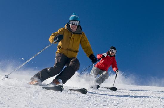 Kahotea House B&B and Home stay: Skiing on the ski fields of Mt Ruapehu