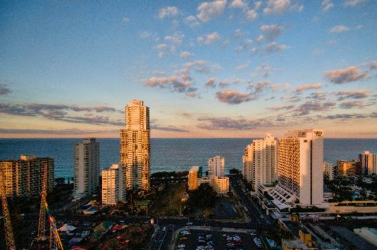 Solaire Apartments: Dusk View of Sea facing apts