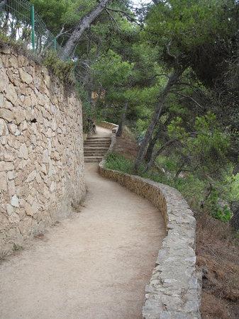Calella de Palafrugell, Espagne : Chemin de ronde vers Calella