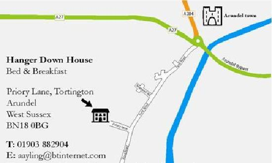 Hanger Down House Bed and Breakfast: location