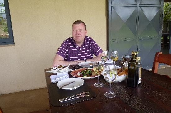 Gabrielskloof: lunch with the meat platter