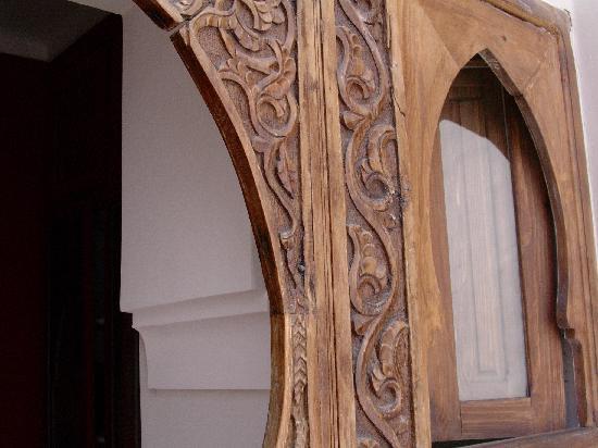 Riad La Cigale: Puerta de la habitación Madre Perla