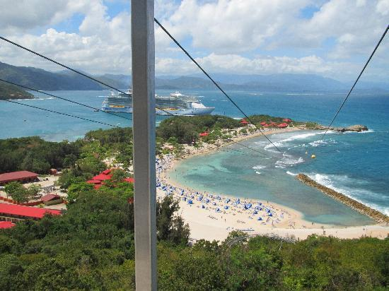 Labadee: View from Start of Flight Line - 2,600 feet across, 500 feet up