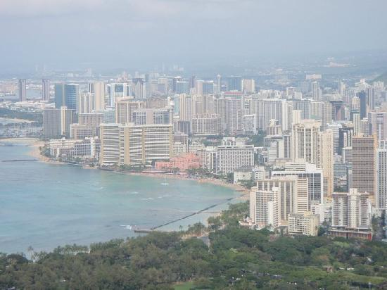 Гонолулу, Гавайи: Honolulu dal vulcano diamond head