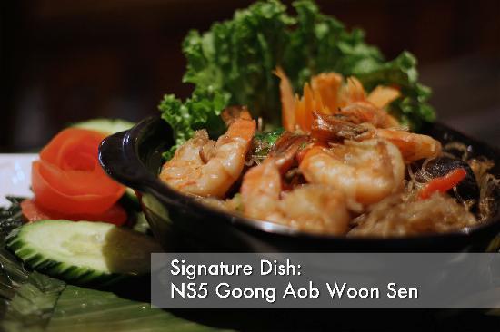 Na Siam Thai Cuisine: Goong Aob Woonsen