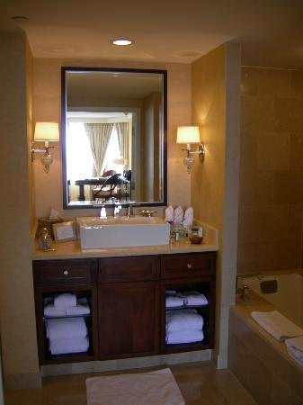 Bathroom Vanities Atlanta master bath vanity with soaking tub to the right - picture of the