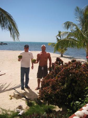 Miramar Villas: Fresh coconuts!