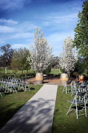 Blue Wren Wines: The wedding garden