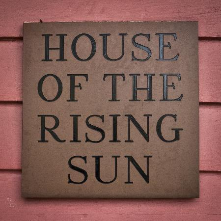 House of the Rising Sun Bed and Breakfast: B&B sign