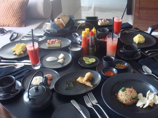 Alila Villas Uluwatu: excellent breakfast with a WOW concept
