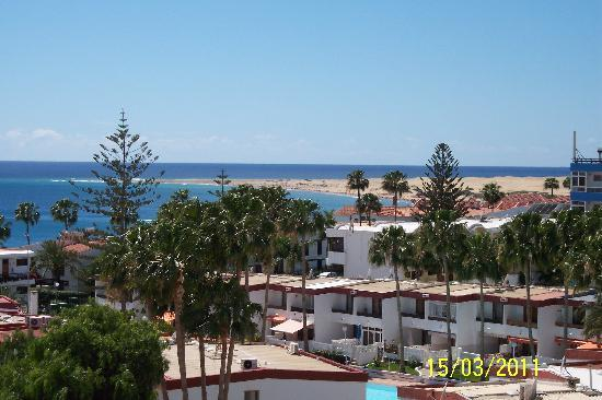 IFA Continental Hotel: View from our balcony to beach--200 metres