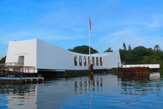 USS Arizonas minnesmonument i Pearl Harbor: The Arizona Memorial