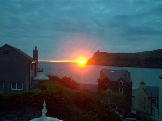 Port Erin, UK: SUNSET TAKEN FROM REAR OF HOUSE