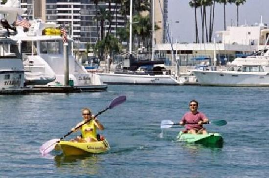 Kayaking in Marina del Rey is fun and easy