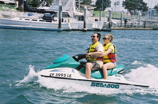 Jetskis can be rented by the hour in Marina del Rey
