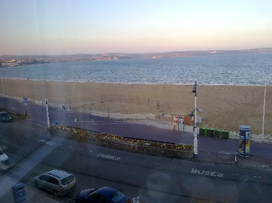 Bay View Hotel Weymouth: out window room 10 (sorry reflections)