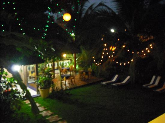 Bougainvillea Guest House Goa: Garden at night
