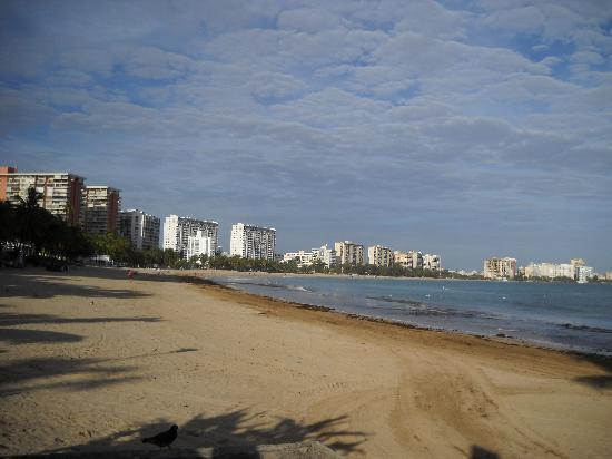 Coral by the Sea Hotel : view from beach 2 blocks away