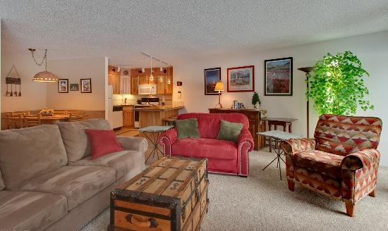 Pine Ridge Condominiums: One- or Two-bedroom Living Area