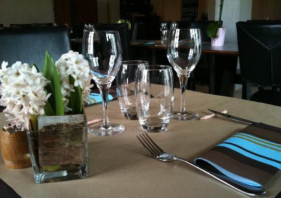 Vue de la table Le 9 Restaurant Forcalquier