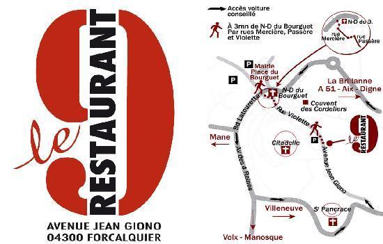 Carte de visite Le 9 Restaurant Forcalquier