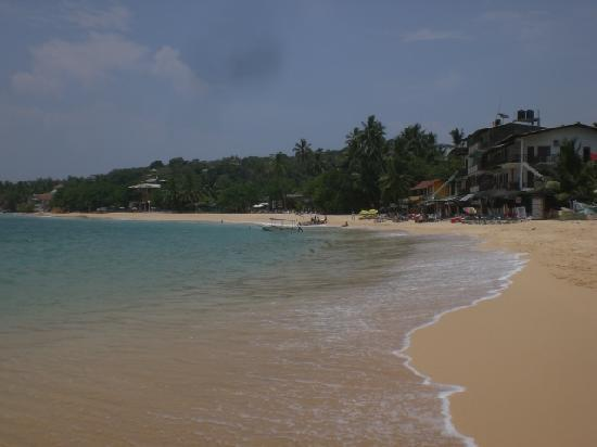 Ridee Villa: Unawatuna Beach across the road