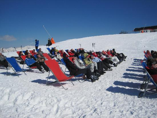 Panoramaalm: lots of deck chairs!