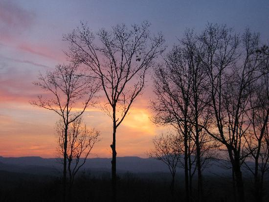 Cohutta Overlook: a sunset view from the back porch