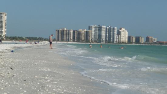 South Seas Towers Condominiums: Marco Island, looking south from north end near South Seas
