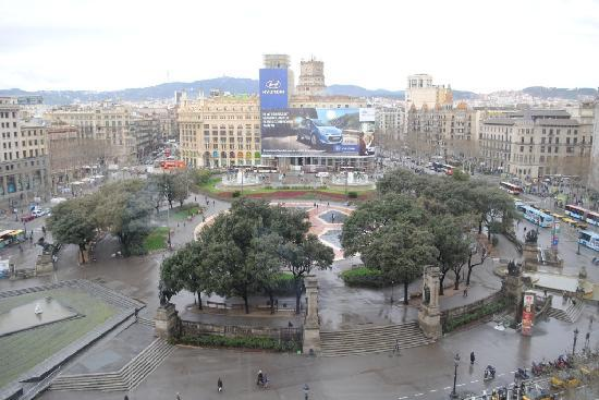 Plaza On A Rainy Day Picture Of Olivia Plaza Hotel Barcelona