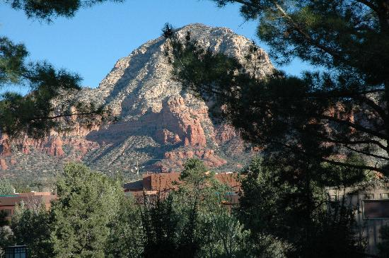 The Lodge at Sedona: view from the door of our suite