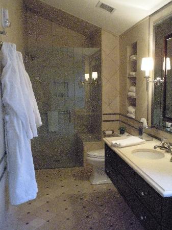 The Aurora Inn: bathroom and shower