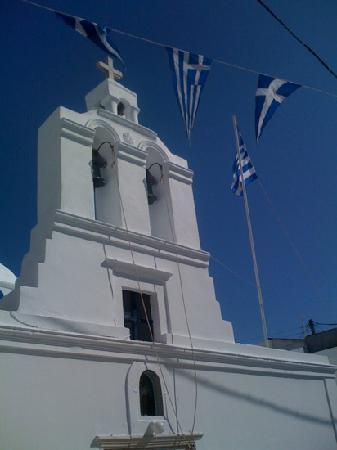Antíparos, Grecia: in main square
