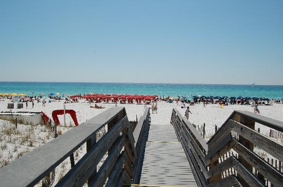 Sandestin, FL: Beachfront from the deck of Finz.