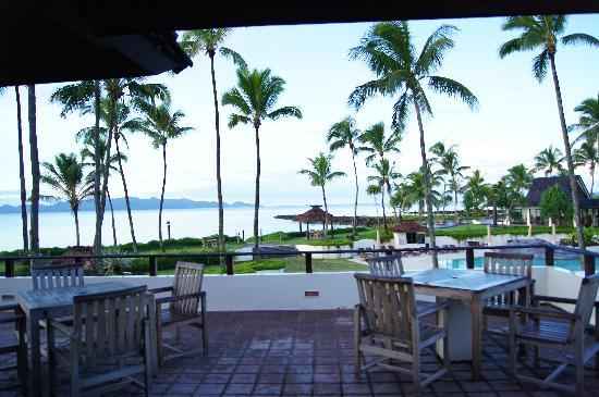 The Pearl Resort: View from the Manta Rae resto/we also had breakfast here