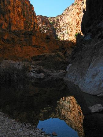 Taghjijt, Maroc : the gorge in the morning light
